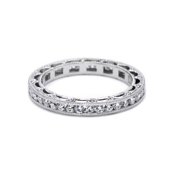 Platinum Ladies 0.97ct TW Tacori Reverse Crescent Collection Diamond Band Skaneateles Jewelry Skaneateles, NY
