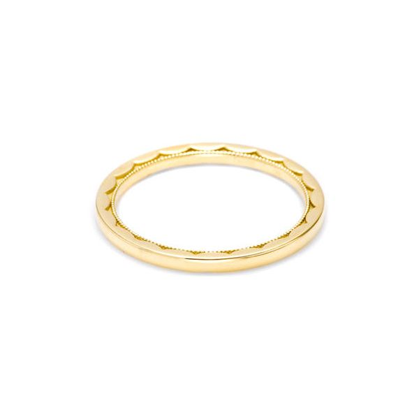 18K YG Ladies 1.5 mm Tacori  Eternity Crescent Design Wedding Ring Skaneateles Jewelry Skaneateles, NY