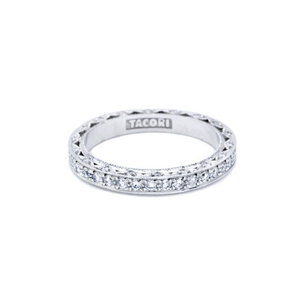 18K WG Ladies 0.33ct Tacori Cresent Diamond Wedding Band Skaneateles Jewelry Skaneateles, NY