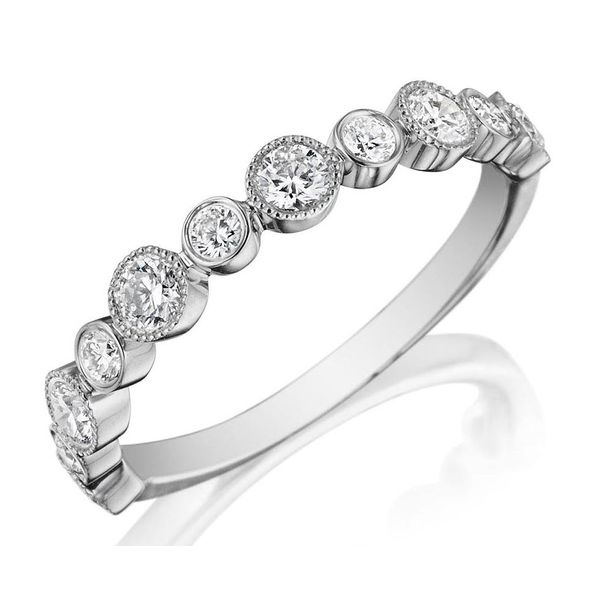 14K WG Ladies 0.55ct TW Diamond Henri Daussi Wedding Ring Skaneateles Jewelry Skaneateles, NY