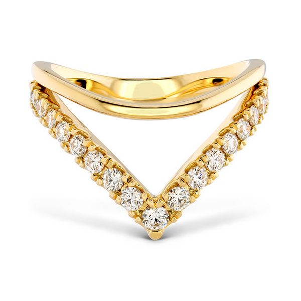 18K YG Ladies 0.22ct TW Hayley Paige Hearts On Fire Harley Silhoutte Power Band Skaneateles Jewelry Skaneateles, NY