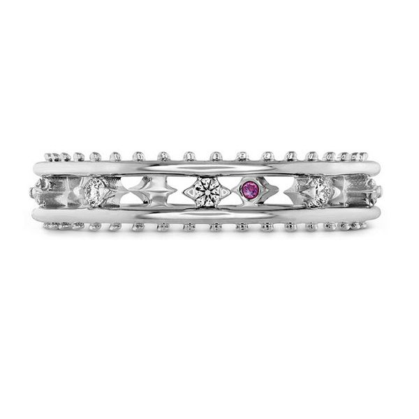 18K WG Ladies 0.15ct TW Hayley Paige Hearts On Fire Sloane Picot Floating Diamond Band Skaneateles Jewelry Skaneateles, NY