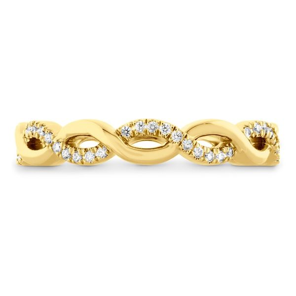 18K YG Ladies  0.14ct TW Hearts on Fire Diamond Destiny Lace Twist Eternity Ring Skaneateles Jewelry Skaneateles, NY