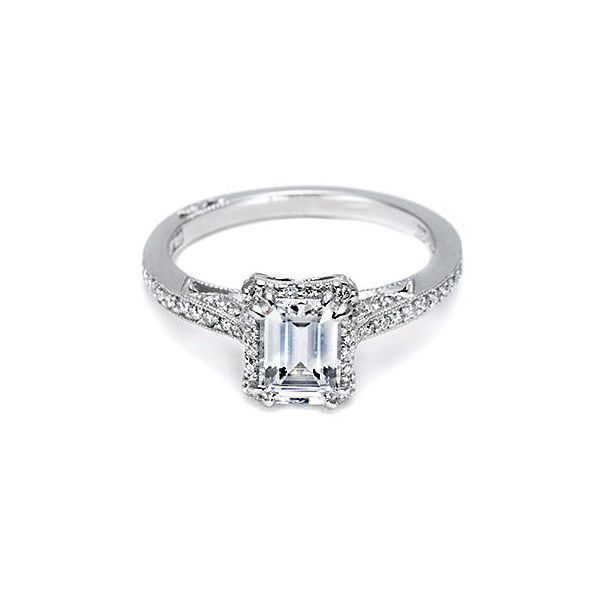 Tacori Emerald Cut Pave Halo Engagement Ring Skaneateles Jewelry Skaneateles, NY