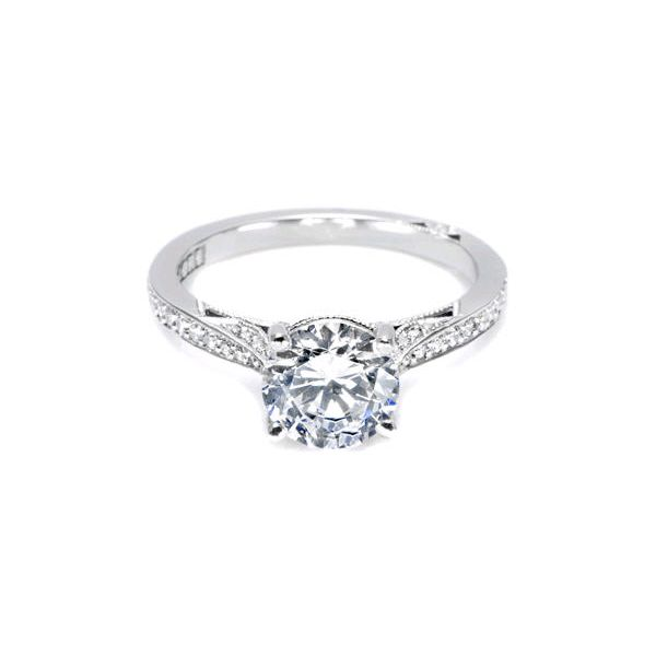 Tacori Round Pave Halo Engagement ring Skaneateles Jewelry Skaneateles, NY