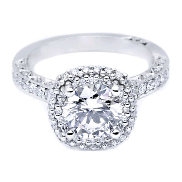 Tacori Blooming Beauties Pave Halo Engagement Ring Skaneateles Jewelry Skaneateles, NY
