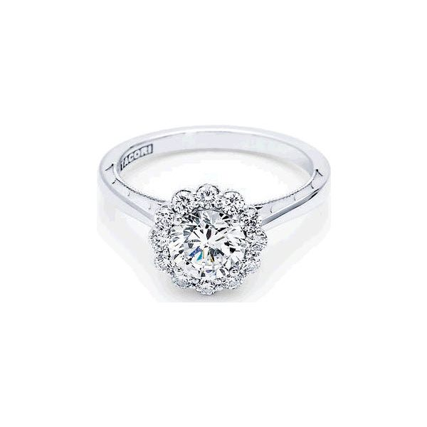Tacori Floral Halo Engagement Ring Skaneateles Jewelry Skaneateles, NY