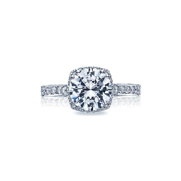 Tacori Dantela Large Pave Cushion Halo Engagement Ring Skaneateles Jewelry Skaneateles, NY