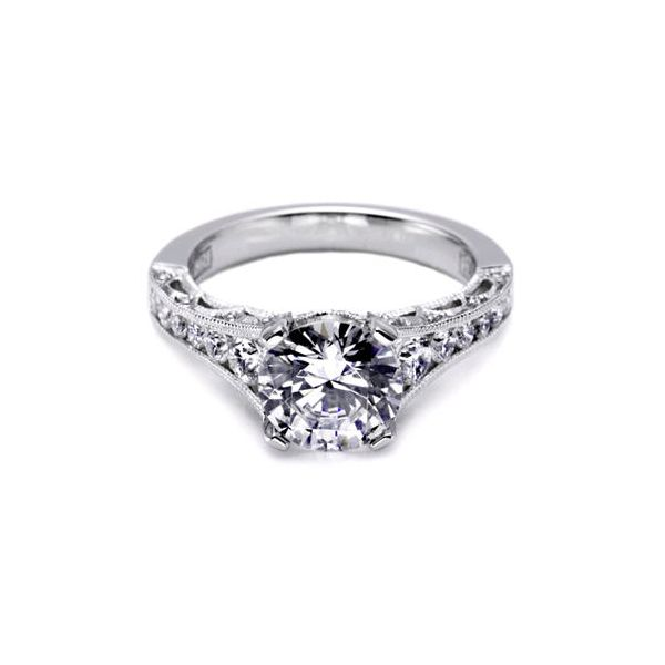 Tacori Inspired Graduated Diamond Engagement Ring Skaneateles Jewelry Skaneateles, NY
