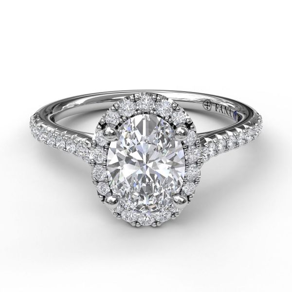 Next Generation Oval Halo Engagement ring Skaneateles Jewelry Skaneateles, NY