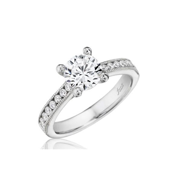 Next Generation Milgrain Channel Engagement Ring Skaneateles Jewelry Skaneateles, NY