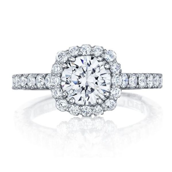 Tacori Full Bloom Cushion Halo Diamond Engagement Ring Skaneateles Jewelry Skaneateles, NY
