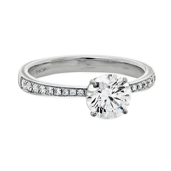 Hearts on Fire Signature Tapered Diamond Engagement Ring Skaneateles Jewelry Skaneateles, NY