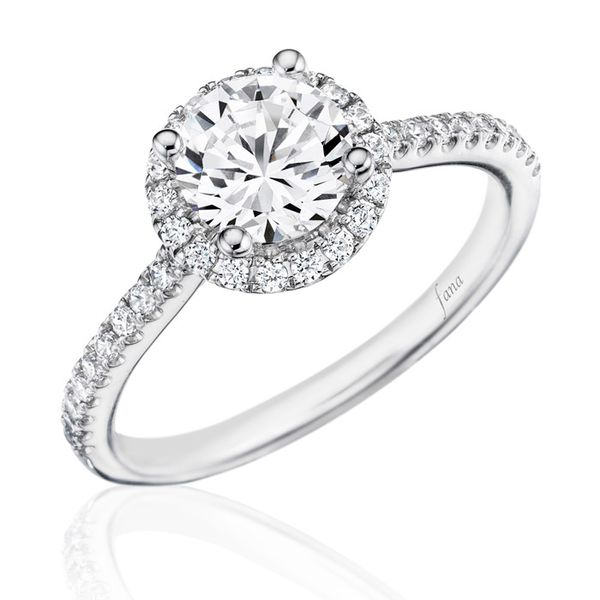 Next Generation Round Halo Engagement Ring Skaneateles Jewelry Skaneateles, NY