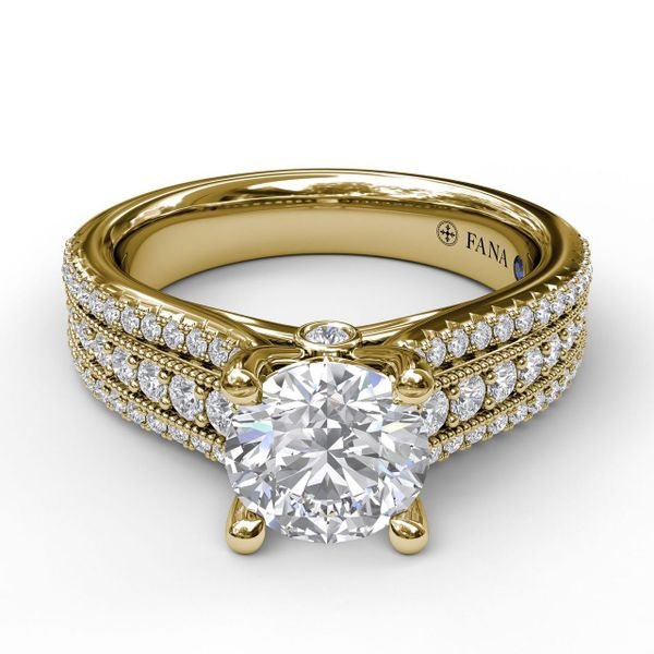 Next Generation 3-Row Pave Engagement Ring Skaneateles Jewelry Skaneateles, NY