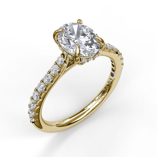 Next Generation Pave Hidden Halo Oval Engagement ring Skaneateles Jewelry Skaneateles, NY