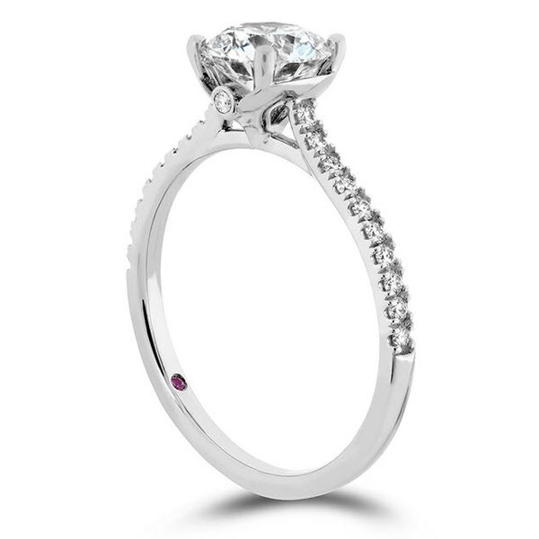 Hearts on Fire Hayley Paige Sloan Silhouette Engagement Ring Skaneateles Jewelry Skaneateles, NY