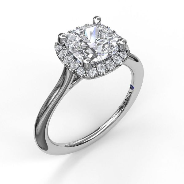 Next Generation Cushion Halo Engagement Ring Skaneateles Jewelry Skaneateles, NY