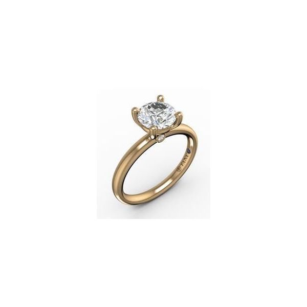 Next Generation Solitaire Round Accent Engagement Ring Skaneateles Jewelry Skaneateles, NY
