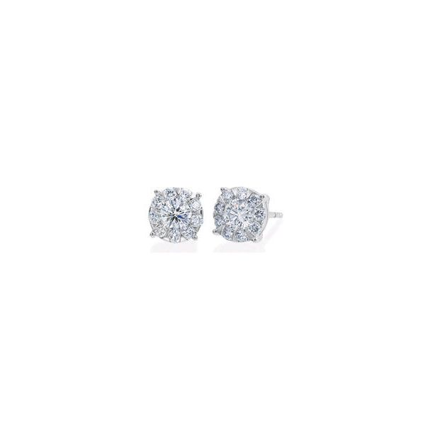 18K WG Ladies 0.20ct TW Memoire Bouquet Diamond Earrings Skaneateles Jewelry Skaneateles, NY