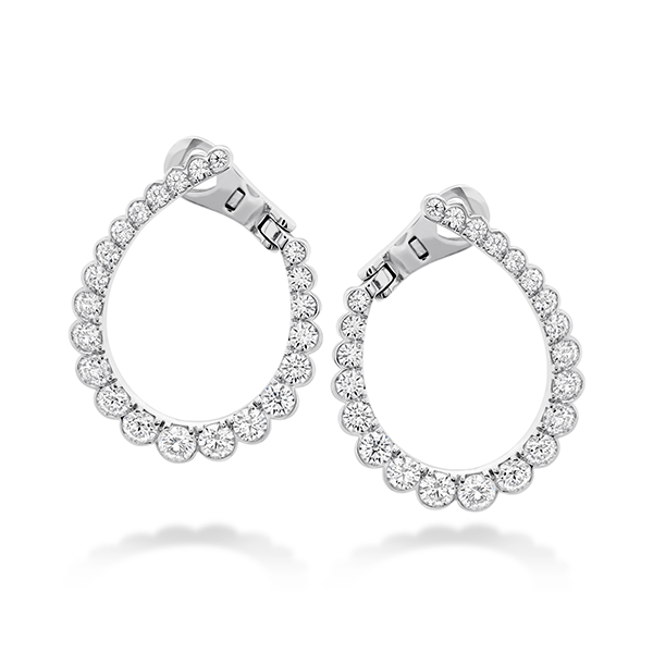18K WG Ladies 2.18ct TW Hearts On Fire Aerial Regal Diamond Hoop Earrings Skaneateles Jewelry Skaneateles, NY