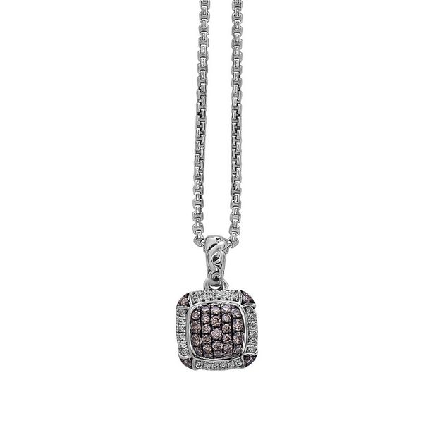 SS Ladies 0.51ct TW Charles Krypell Pave Brown & White Diamond Pendant w/Chain Skaneateles Jewelry Skaneateles, NY