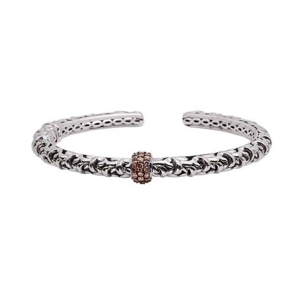 Charles Krypell Ladies 0.40ct TW  Brown Diamond Cuff Bracelet Skaneateles Jewelry Skaneateles, NY