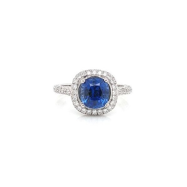 Platinum Sapphire and Diamond Ring 3.18ct TGW Skaneateles Jewelry Skaneateles, NY