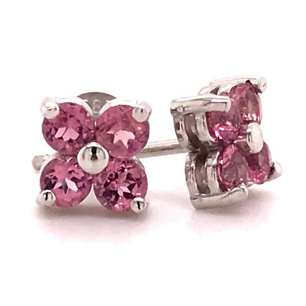 White Gold 'Next Generation' Pink Sapphire Earrings Skaneateles Jewelry Skaneateles, NY