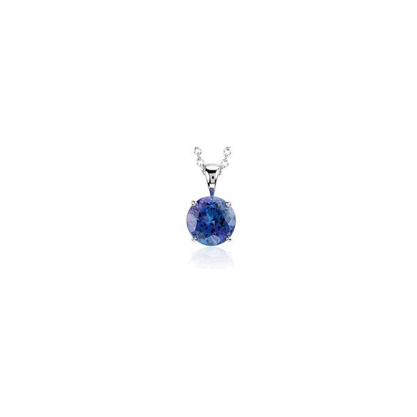 14KW Round Tanzanite Pendant with chain Skaneateles Jewelry Skaneateles, NY