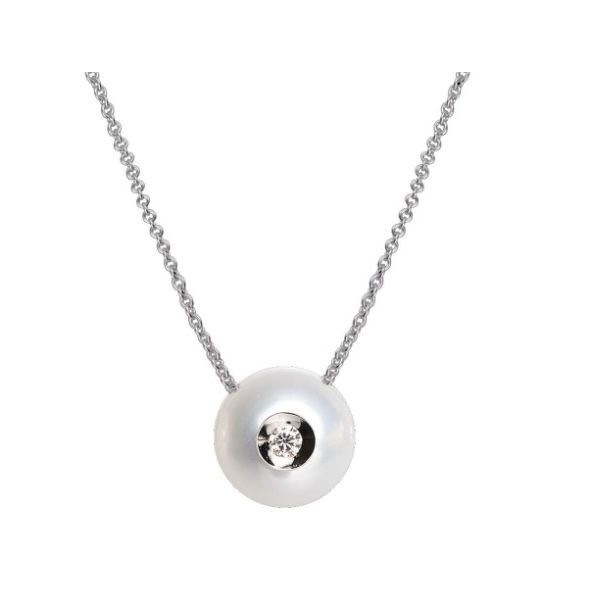 14K WG Ladies Galatea 0.04ct FW Diamond in a Pearl Pendant w/Chain Skaneateles Jewelry Skaneateles, NY