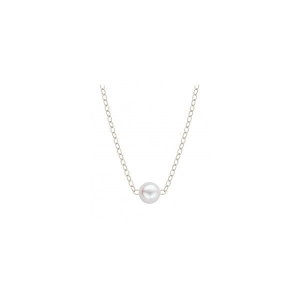 14K WG ADD-A-PEARL Necklace with one 4mm Cultured Pearl on 16