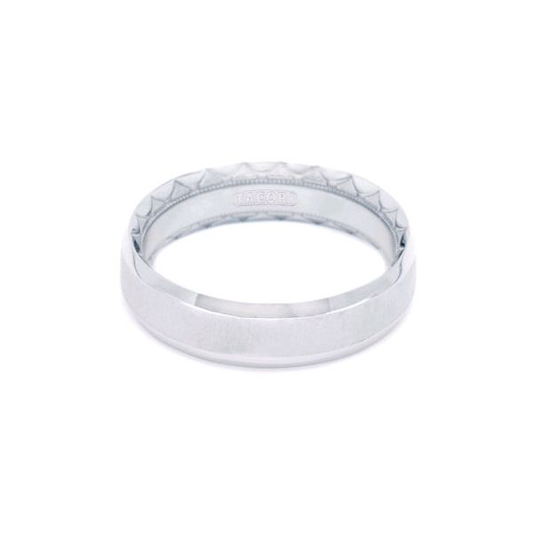18K WG Gent's 6mm Tacori Sculpted Crescent Collection Satin Wedding Ring Skaneateles Jewelry Skaneateles, NY