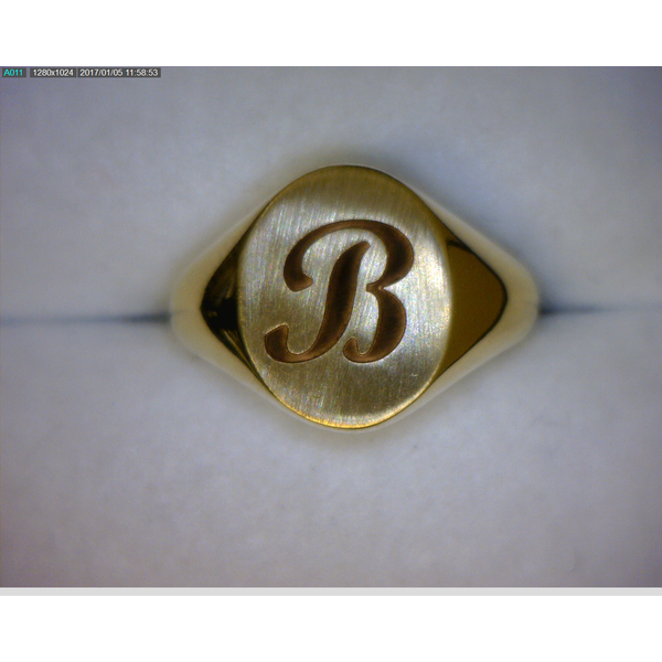 14K YG Ladies Custom Engraved 11X9.5 mm Oval Signet Ring Skaneateles Jewelry Skaneateles, NY