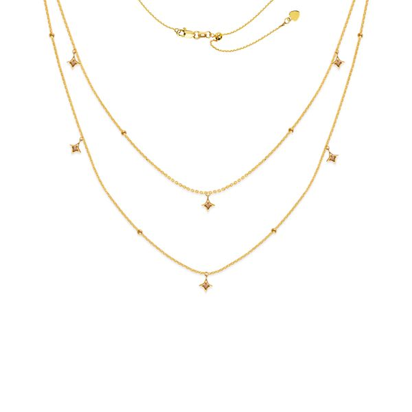 14k Yellow Gold Layered Adjustable Necklace Skaneateles Jewelry Skaneateles, NY