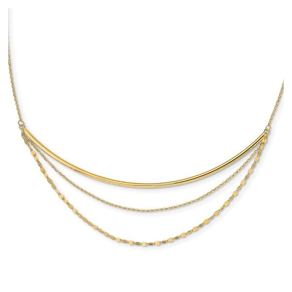 14k Yellow Gold Layered Necklace Skaneateles Jewelry Skaneateles, NY