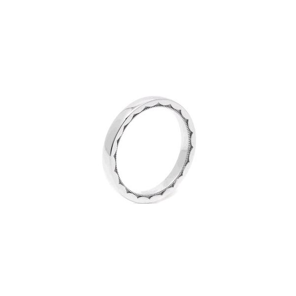 Platinum Ladies Tacori 1.5 mm Eternity (1/2) Crescent Design Wedding Ring Skaneateles Jewelry Skaneateles, NY
