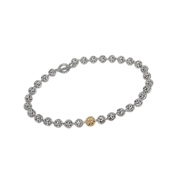 Sterling/18K YG Ladies Charles Krypell Micron Ivy Bead Necklace Skaneateles Jewelry Skaneateles, NY