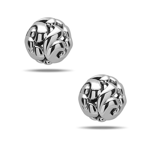 Sterling Ladies Charles Krypell 9 mm Silver Fashion Earrings Skaneateles Jewelry Skaneateles, NY