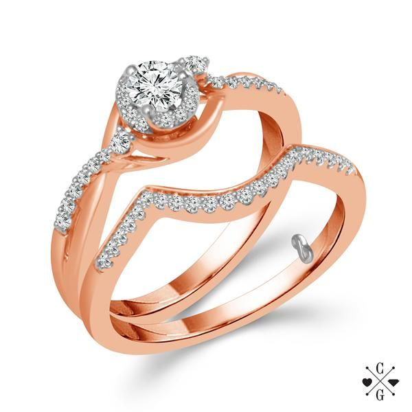 10K Rose Gold Diamond Bridal Set Confer's Jewelers Bellefonte, PA