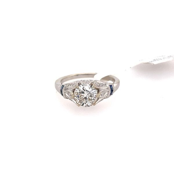 14K White Gold Vintage Round Brilliant Diamond Engagement Ring Confer's Jewelers Bellefonte, PA