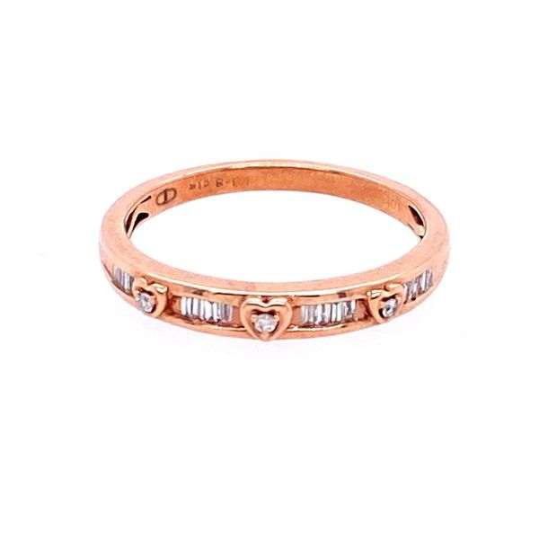 10K Rose Gold Diamond Band Confer's Jewelers Bellefonte, PA