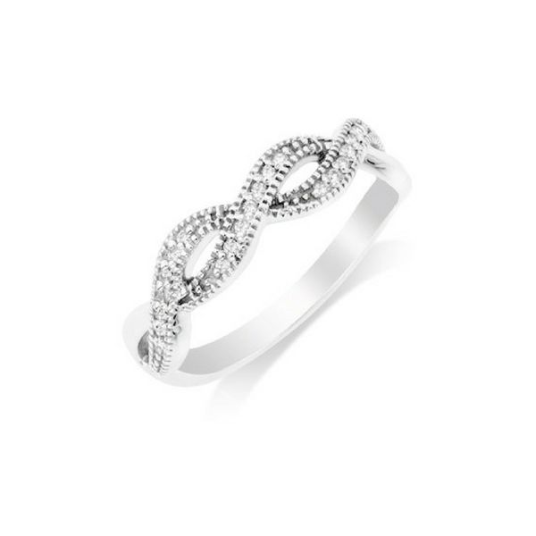 14K Diamond Twist Stackable Band Ring Confer's Jewelers Bellefonte, PA