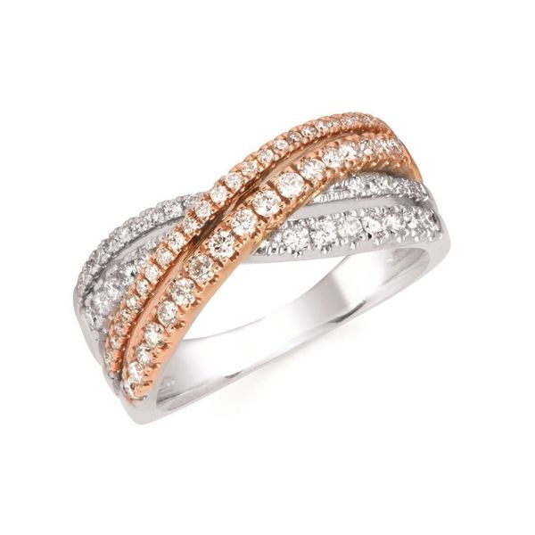 14K Rose & White Gold .63ctw DIamond Pave Ring Confer's Jewelers Bellefonte, PA