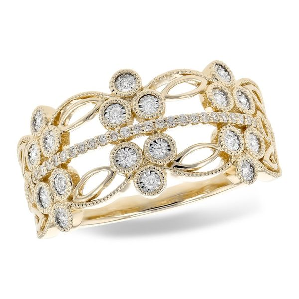 14K Yellow Gold Diamond Ring Confer's Jewelers Bellefonte, PA