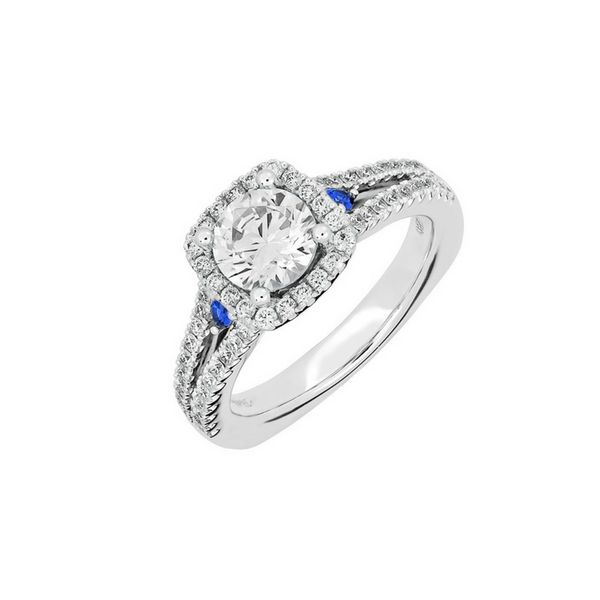 14K Eternal Flame Diamond & Sapphire Engagement Ring Confer's Jewelers Bellefonte, PA