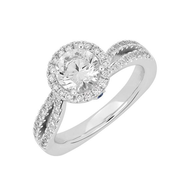 14K White Gold Diamond Halo Engagement Ring Confer's Jewelers Bellefonte, PA