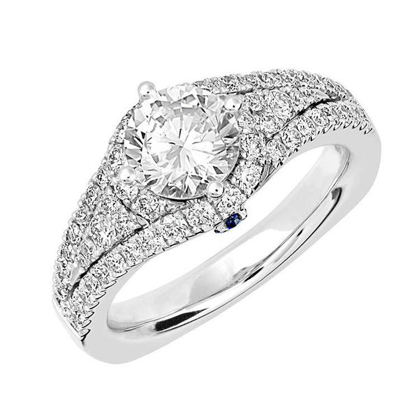 14K White Gold Diamond Three Row Engagment Ring Confer's Jewelers Bellefonte, PA