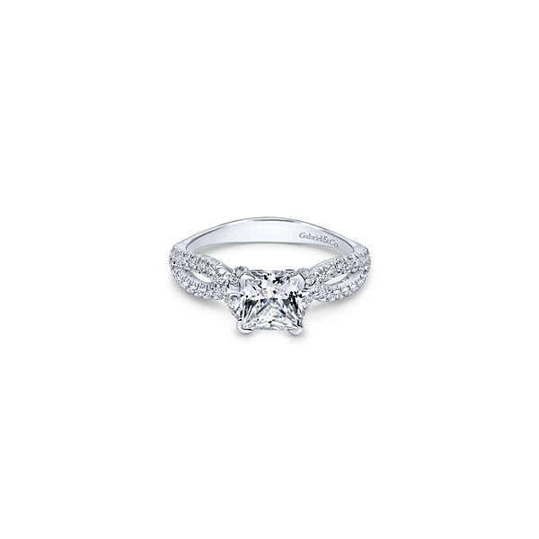 14k white gold princess cut engagement ring Confer's Jewelers Bellefonte, PA