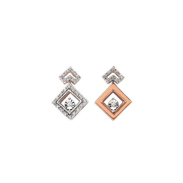 14K Yellow & White Gold Love Four All Seasons Earrings Confer's Jewelers Bellefonte, PA
